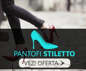 Reduceri la pantofi stiletto din piele naturala